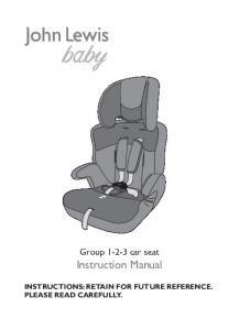 Group car seat Instruction Manual