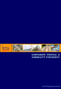 GROUP CORPORATE PROFILE & CAPABILITY STATEMENT