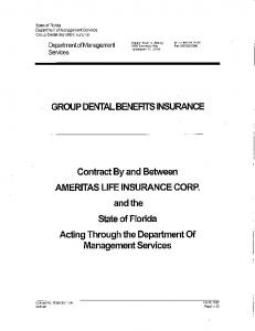 GROUP DENTAL BENEFITS INSURANCE