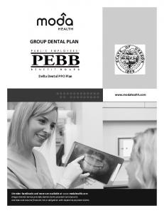 GROUP DENTAL PLAN. Delta Dental PPO Plan