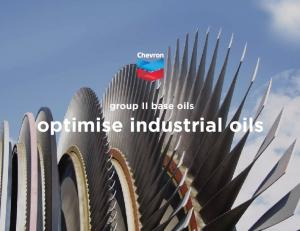 group II base oils optimise industrial oils
