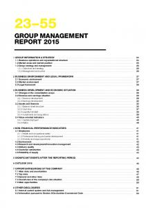 GROUP MANAGEMENT REPORT 2015