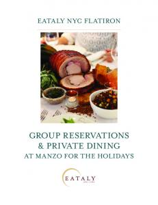 GROUP RESERVATIONS & PRIVATE DINING