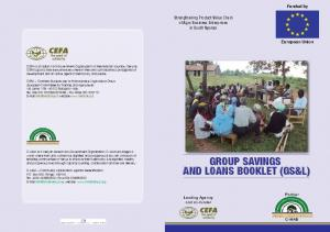 GROUP SAVINGS AND LOANS BOOKLET (GS&L)