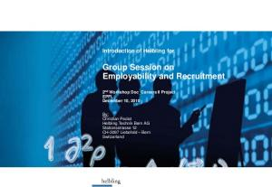 Group Session on Employability and Recruitment
