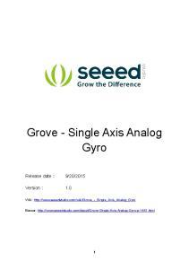 Grove - Single Axis Analog Gyro