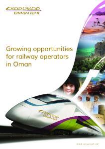 Growing opportunities for railway operators in Oman