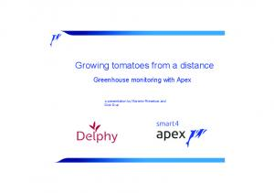 Growing tomatoes from a distance