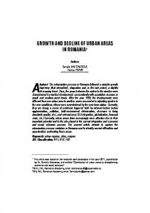GROWTH AND DECLINE OF URBAN AREAS IN ROMANIA 1