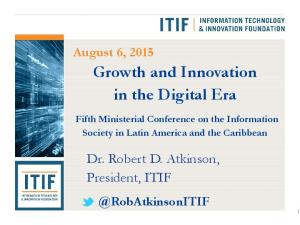 Growth and Innovation in the Digital Era