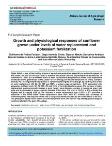 Growth and physiological responses of sunflower grown under levels of water replacement and potassium fertilization