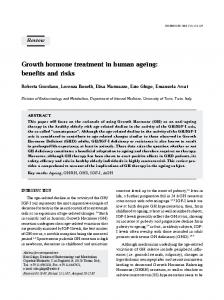 Growth hormone treatment in human ageing: benefits and risks