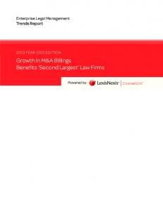 Growth in M&A Billings Benefits Second Largest Law Firms