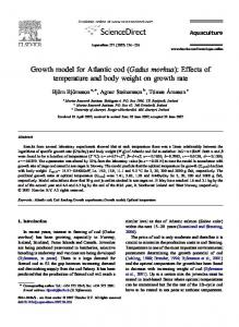 Growth model for Atlantic cod (Gadus morhua): Effects of temperature and body weight on growth rate