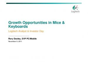 Growth Opportunities in Mice & Keyboards