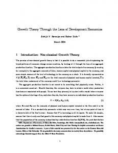 Growth Theory Through the Lens of Development Economics