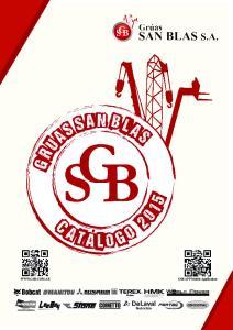 Grúas San Blas S.A. Catálogo 2015