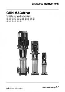 GRUNDFOS INSTRUCTIONS. CRN MAGdrive. Installation and operating instructions