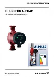 GRUNDFOS INSTRUCTIONS GRUNDFOS ALPHA2. Installation and operating instructions