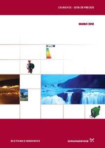 GRUNDFOS - LISTA DE PRECIOS ENERO 2012