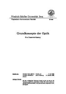 Grundkonzepte der Optik