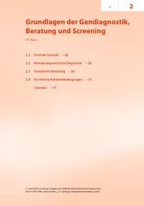 Grundlagen der Gen diagnostik, Beratung und Screening