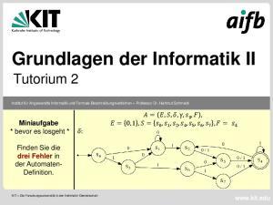 Grundlagen der Informatik II