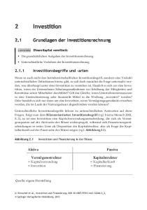 Grundlagen der Investitionsrechnung Grundlagen der Investitionsrechnung