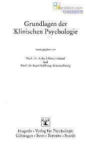 Grundlagen der Klinischen Psychologie