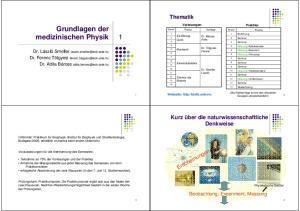 Grundlagen der medizinischen Physik
