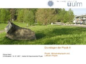 Grundlagen der Physik II
