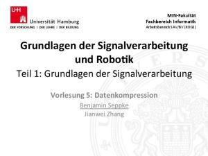 Grundlagen der Signalverarbeitung und Robo7k