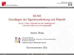 Grundlagen der Signalverarbeitung und Robotik