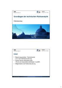 Grundlagen der technischen Risikoanalytik
