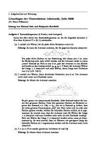 Grundlagen der Theoretischen Informatik, SoSe 2008