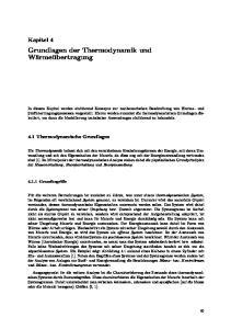 Grundlagen der Thermodynamik und