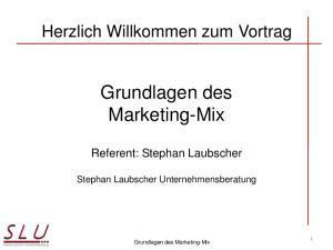 Grundlagen des Marketing-Mix