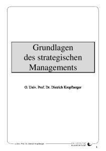 Grundlagen des strategischen Managements