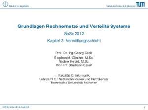 Grundlagen Rechnernetze und Verteilte Systeme