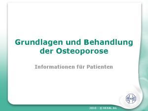 Grundlagen und Behandlung der Osteoporose
