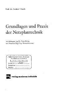Grundlagen und Praxis der Netzplantechnik