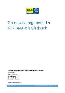 Grundsatzprogramm der FDP Bergisch Gladbach