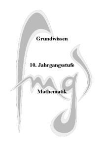 Grundwissen. 10. Jahrgangsstufe. Mathematik