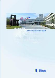 Grupo BEI Informe financiero 2001