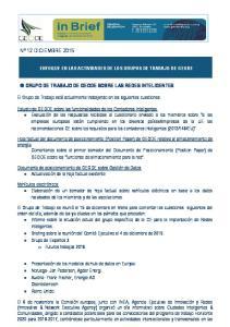 GRUPO DE TRABAJO DE GEODE SOBRE LAS REDES INTELIGENTES