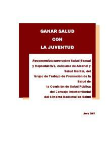 GRUPO DE TRABAJO DE JOVENES GRUPO DE TRABAJO DE PROMOCIÓN DE LA SALUD