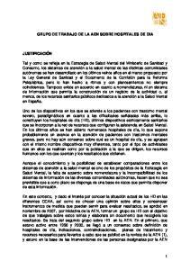 GRUPO DE TRABAJO DE LA AEN SOBRE HOSPITALES DE DIA