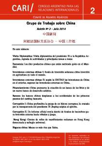 Grupo de Trabajo sobre China