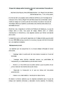 Grupo de trabajo sobre Construcción de Instrumentos Musicales en ESO