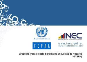 Grupo de Trabajo sobre Sistema de Encuestas de Hogares (GTSEH)